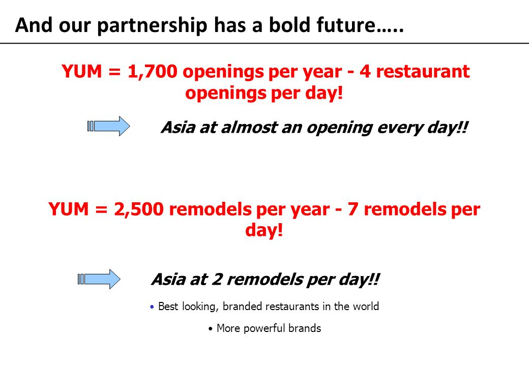 And our partnership has a bold future…..