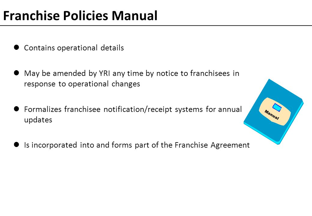 Franchise Policies Manual