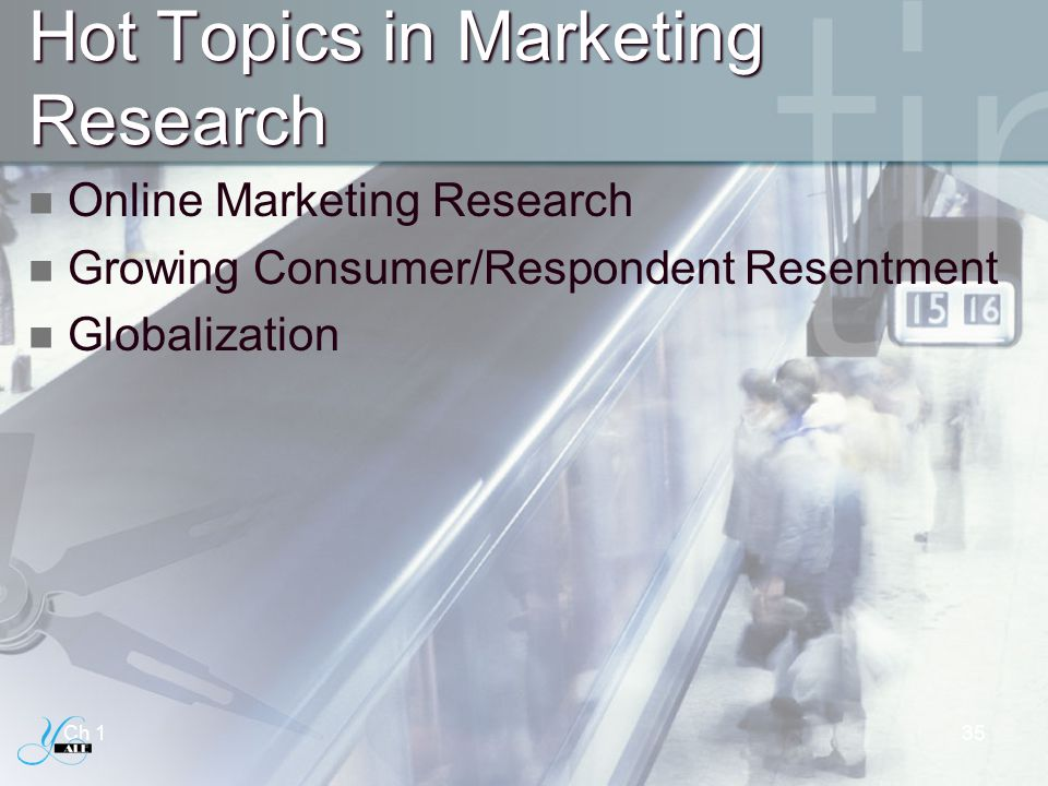 Hot Topics in Marketing Research