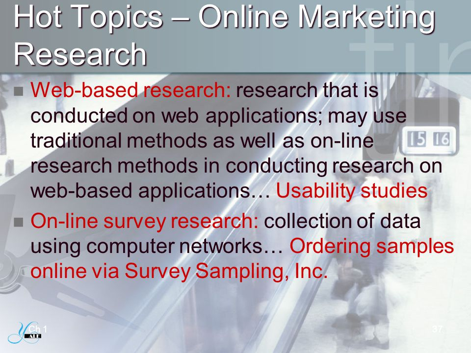 Hot Topics – Online Marketing Research
