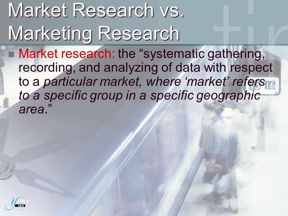 Market Research vs. Marketing Research