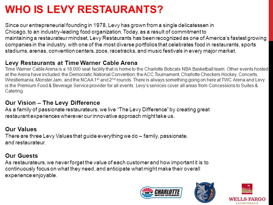 WHO IS LEVY RESTAURANTS
