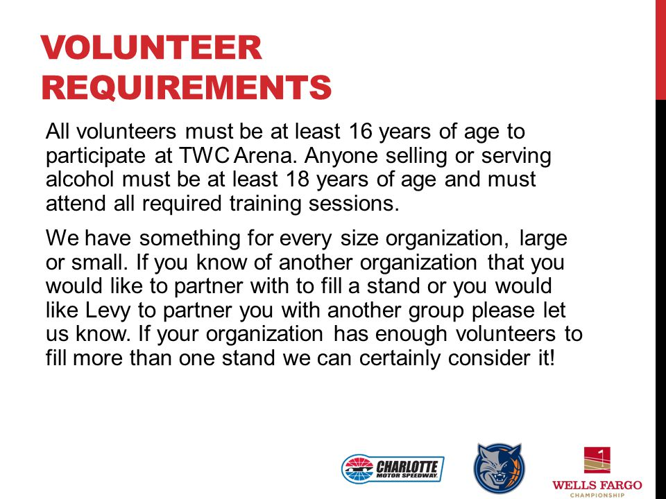 Volunteer Requirements