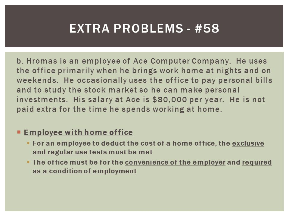 Extra problems - #58