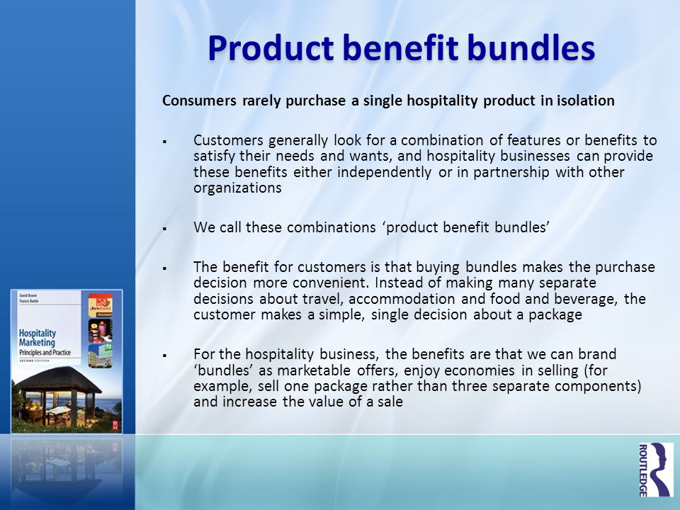 Product benefit bundles