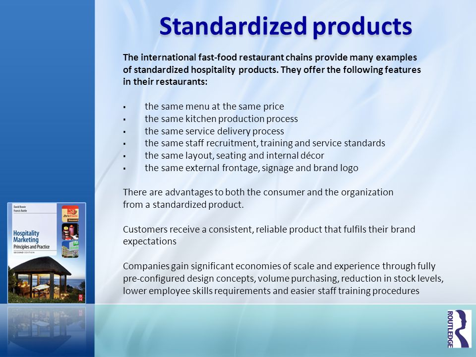 Standardized products
