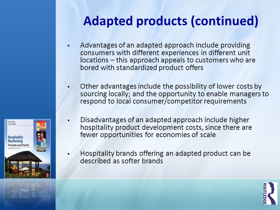 Adapted products (continued)