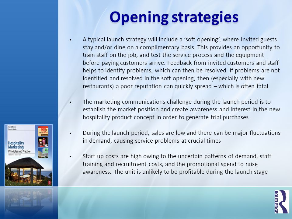 Opening strategies