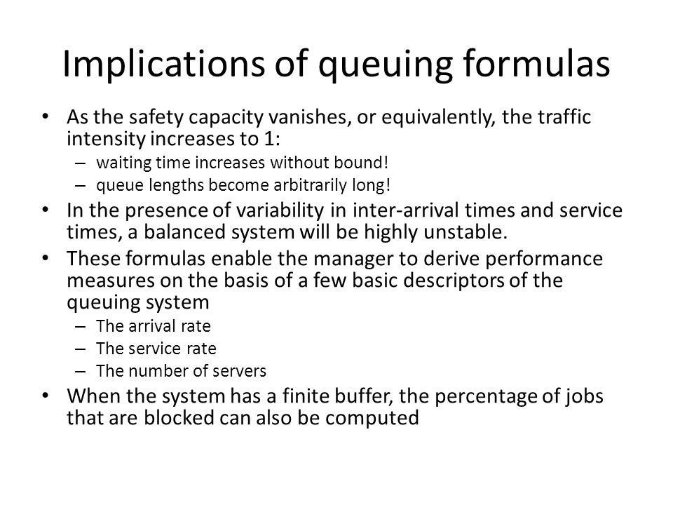 Implications of queuing formulas