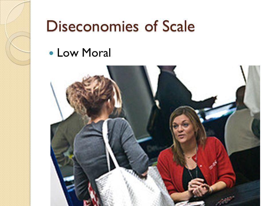 Diseconomies of Scale Low Moral