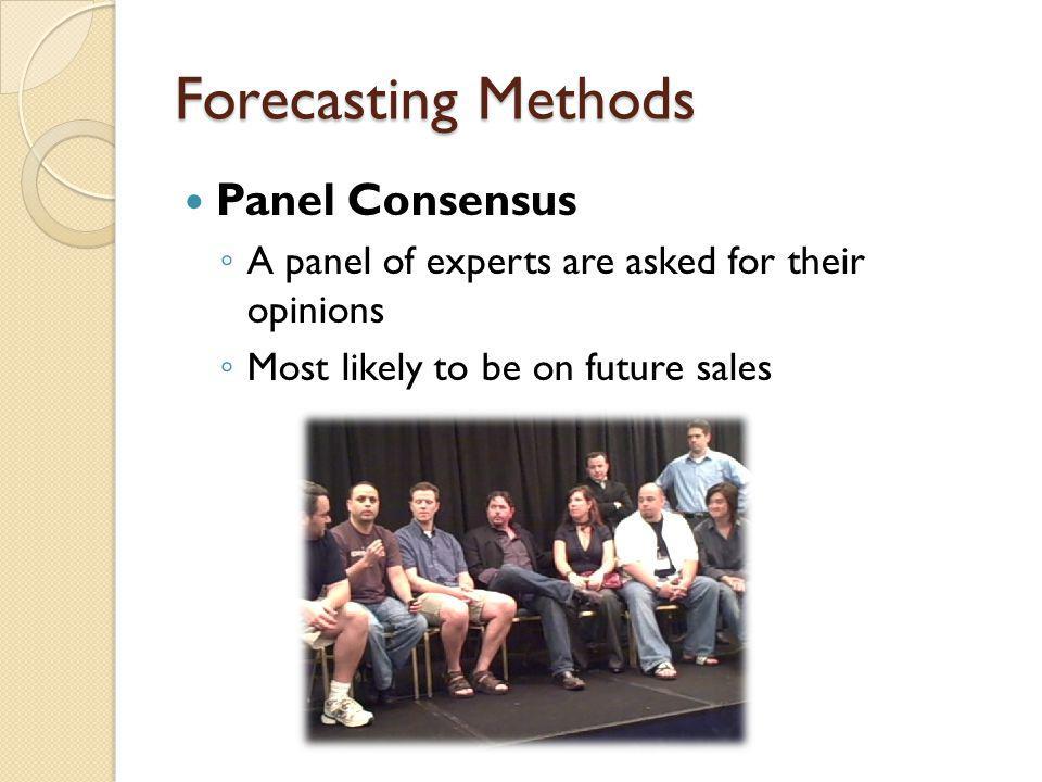Forecasting Methods Panel Consensus