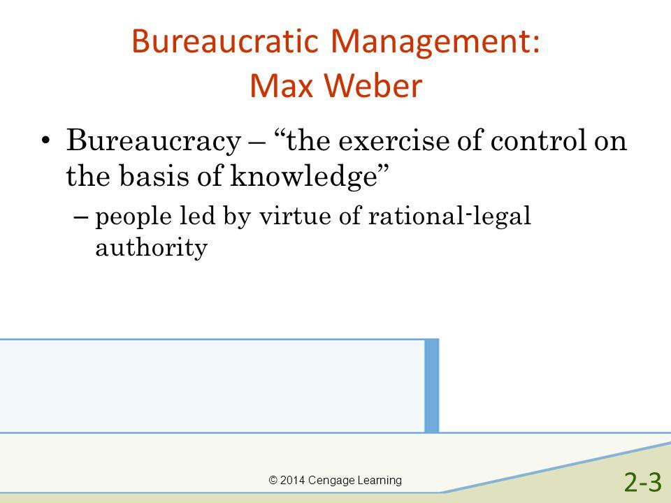 Bureaucratic Management: Max Weber