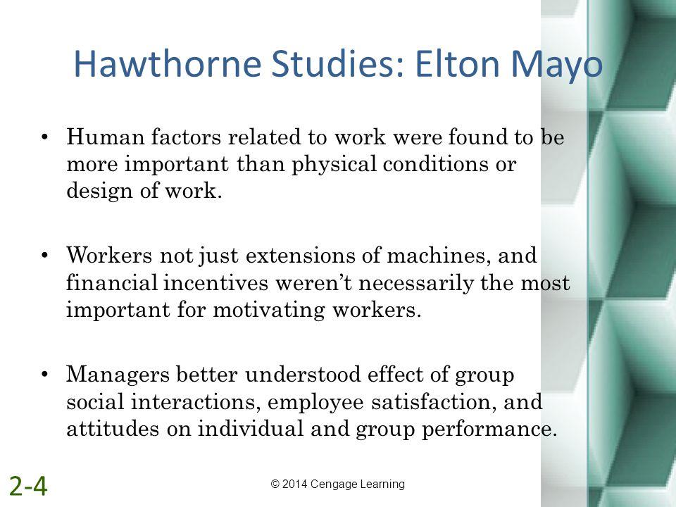 Hawthorne Studies: Elton Mayo