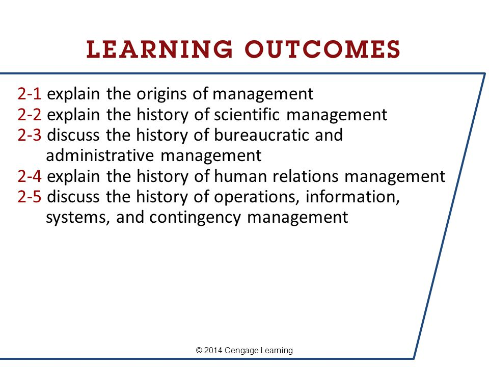 History of Management explain the origins of management