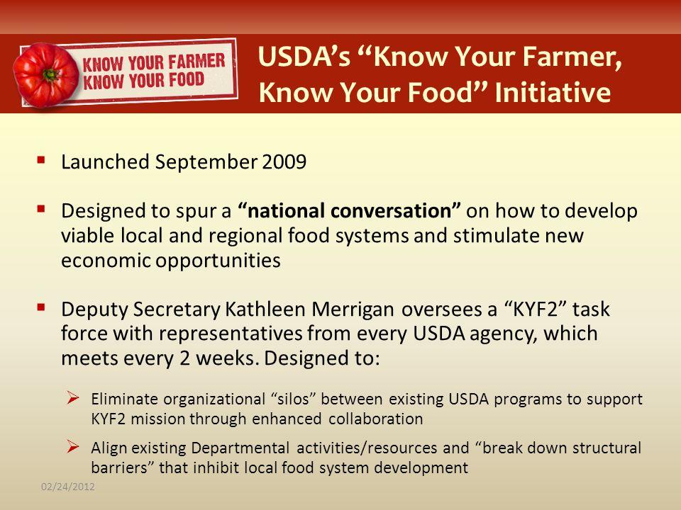 USDA's Know Your Farmer, KK Know Your Food Initiative