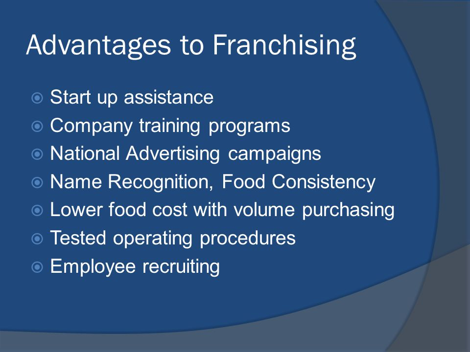 Advantages to Franchising