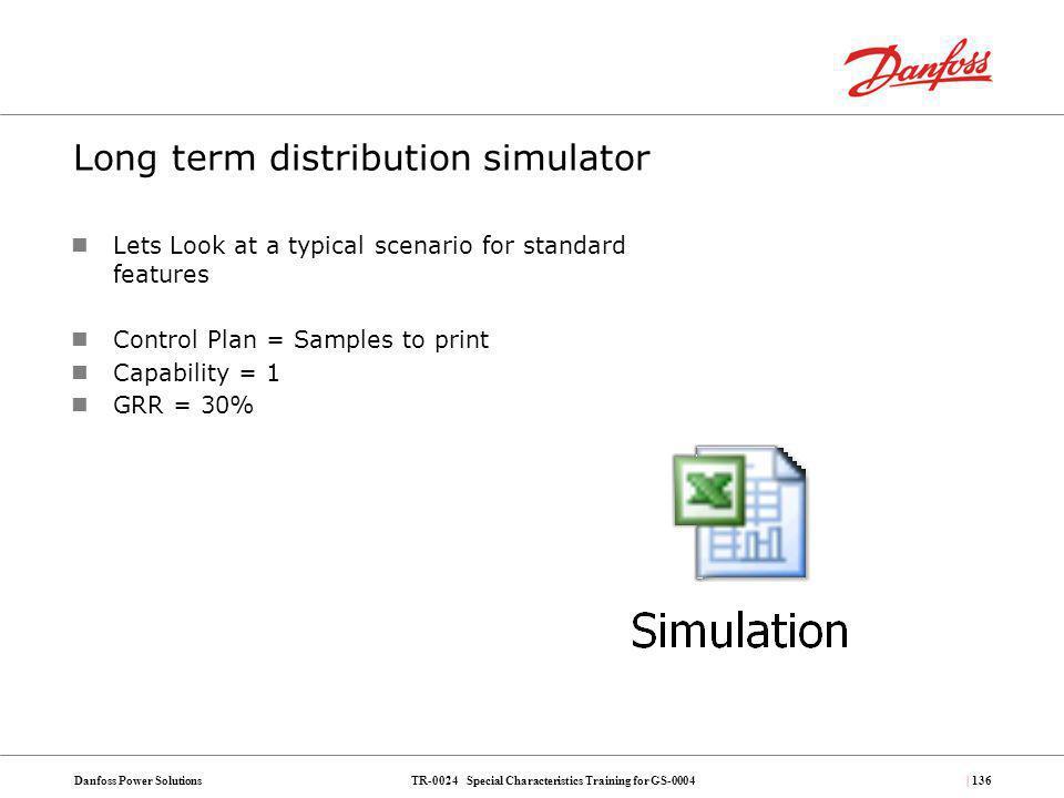 Long term distribution simulator