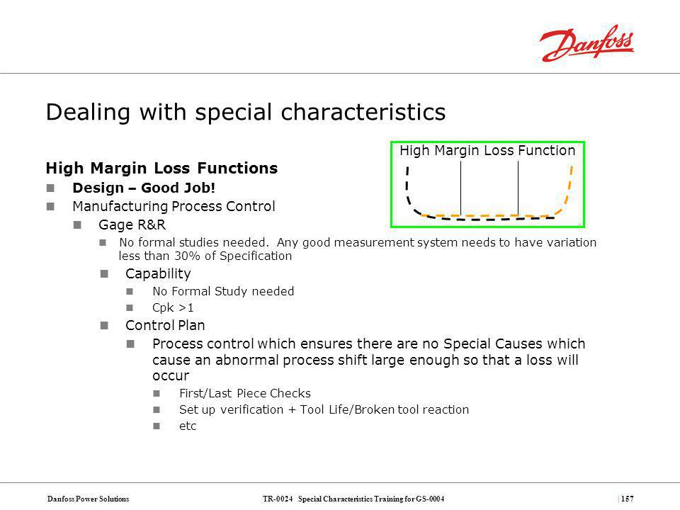 Dealing with special characteristics