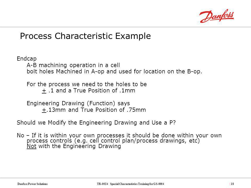 Process Characteristic Example