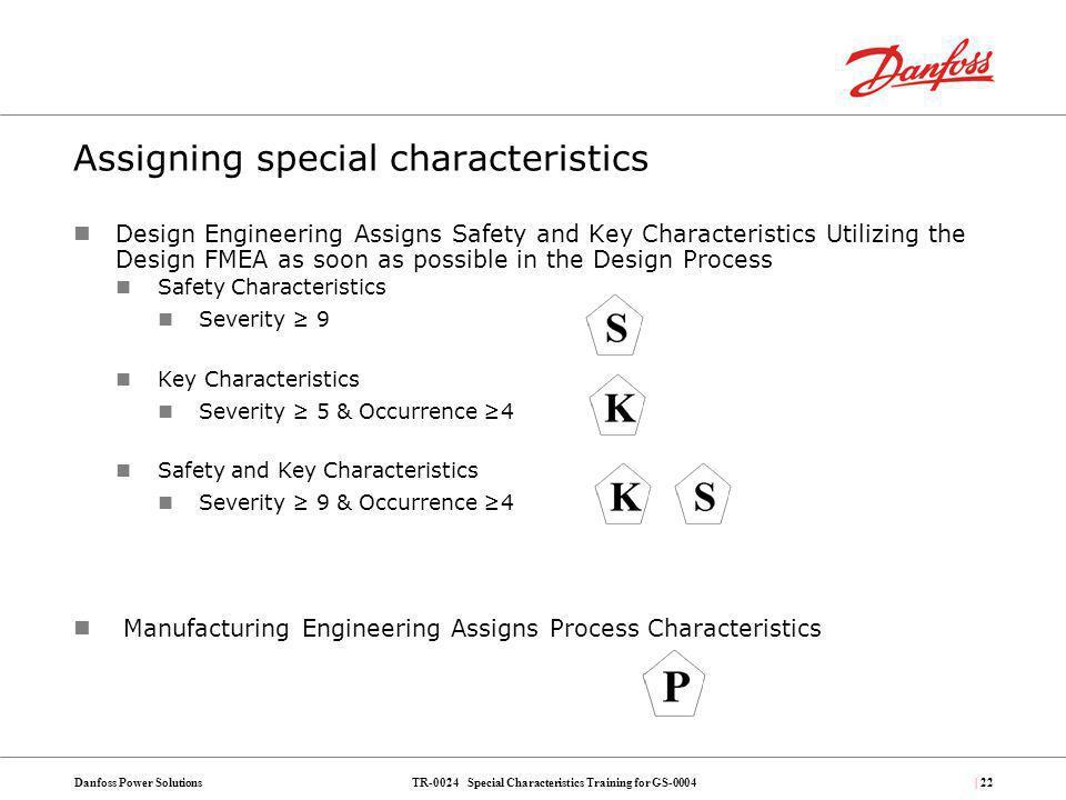 Assigning special characteristics