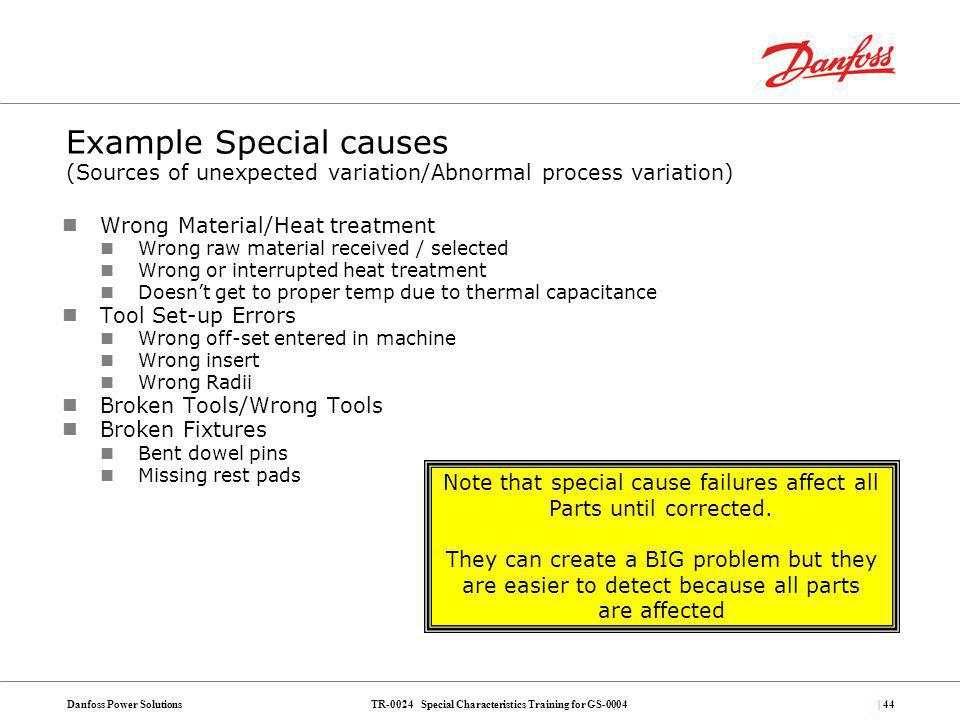 Note that special cause failures affect all