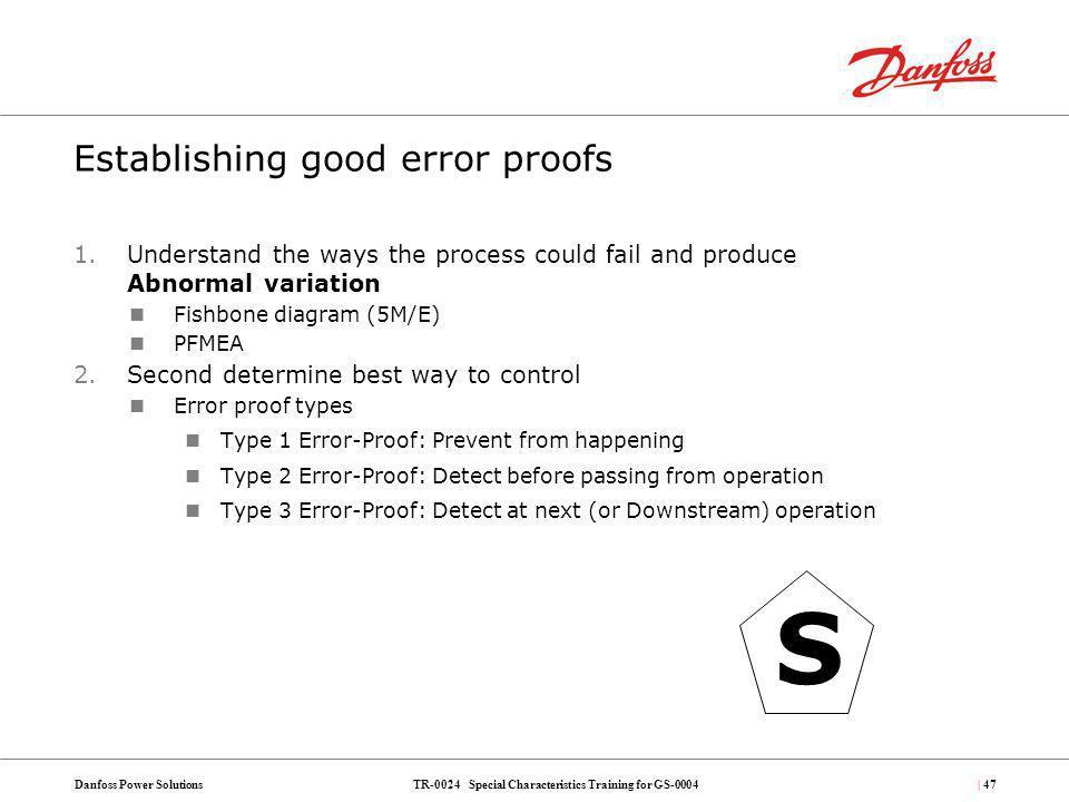 Establishing good error proofs