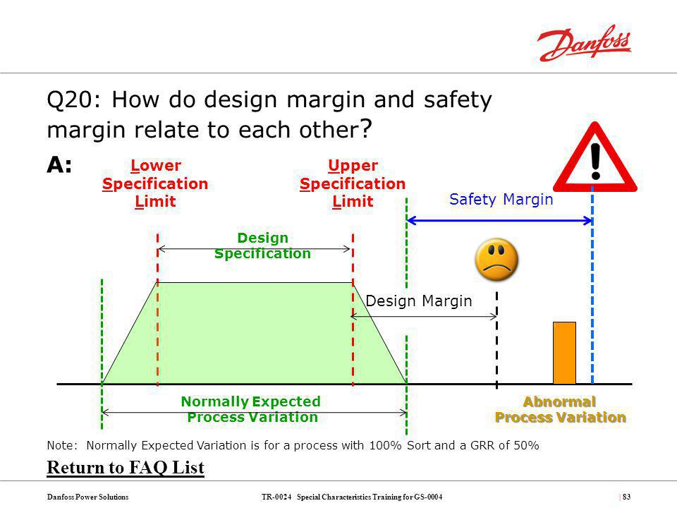 Q20: How do design margin and safety margin relate to each other
