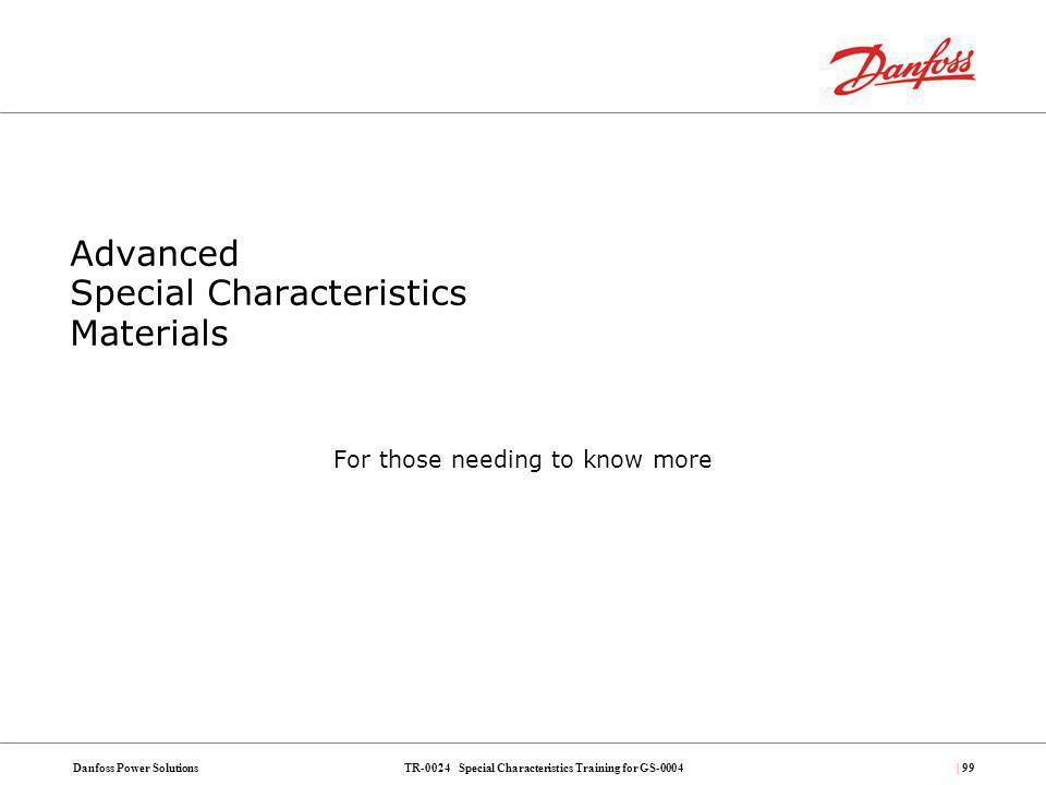 Advanced Special Characteristics Materials