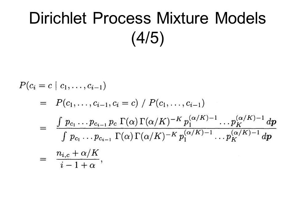 Dirichlet Process Mixture Models (4/5)