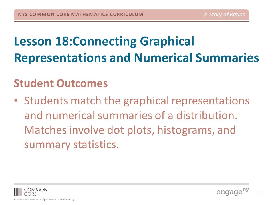 Lesson 18:Connecting Graphical Representations and Numerical Summaries