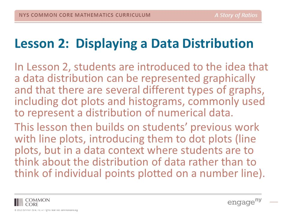 Lesson 2: Displaying a Data Distribution