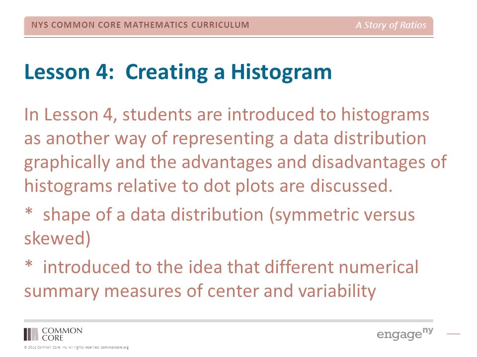 Lesson 4: Creating a Histogram