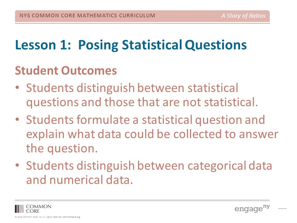 Lesson 1: Posing Statistical Questions