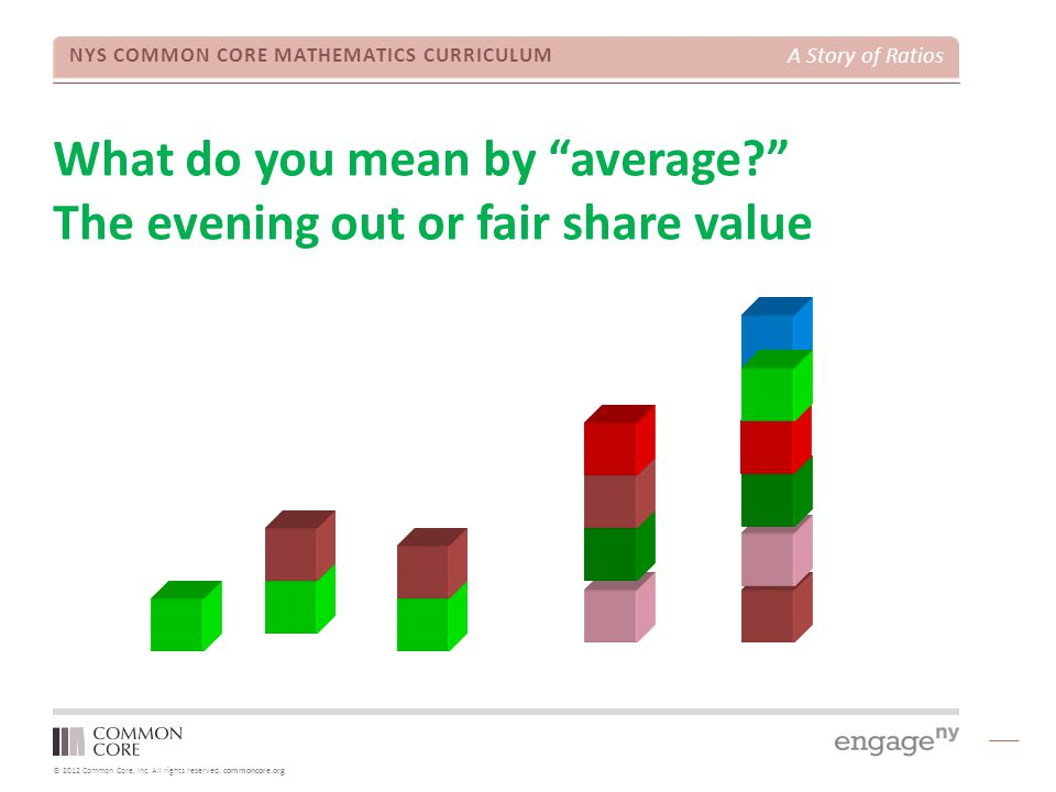What do you mean by average The evening out or fair share value