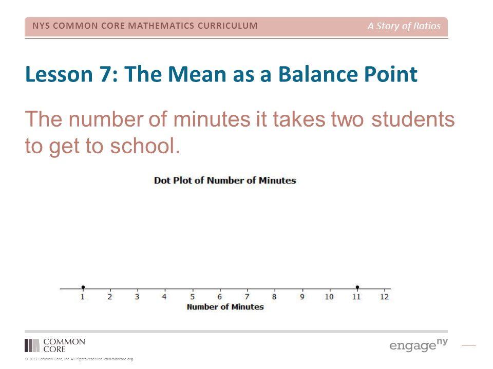 Lesson 7: The Mean as a Balance Point