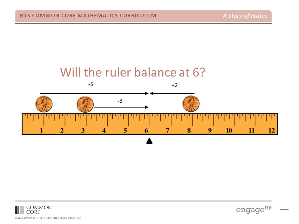 Will the ruler balance at 6