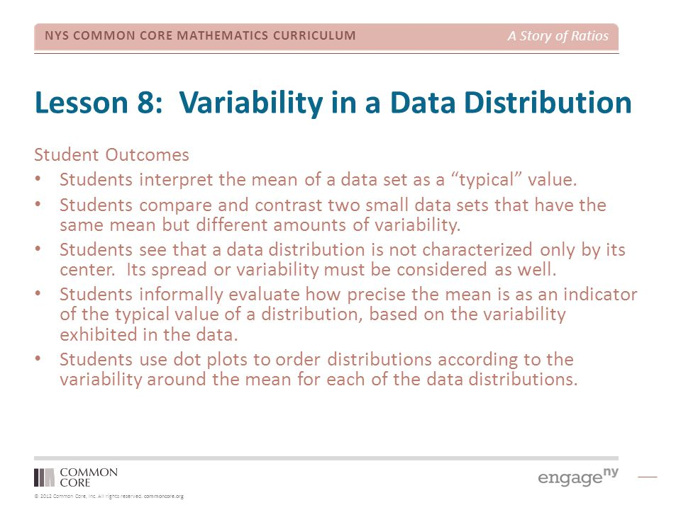 Lesson 8: Variability in a Data Distribution