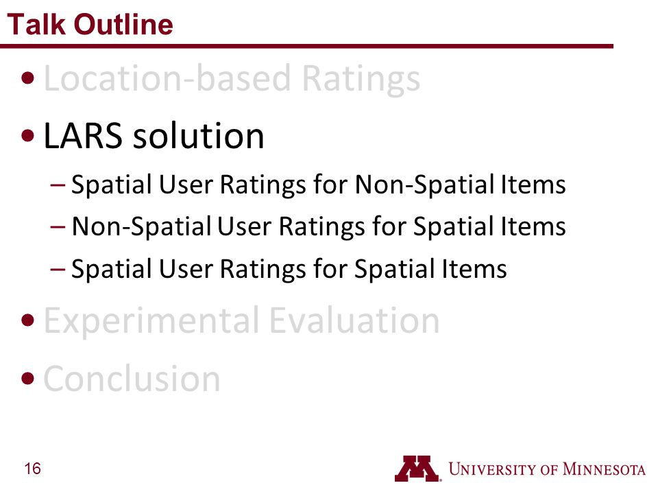 Location-based Ratings LARS solution