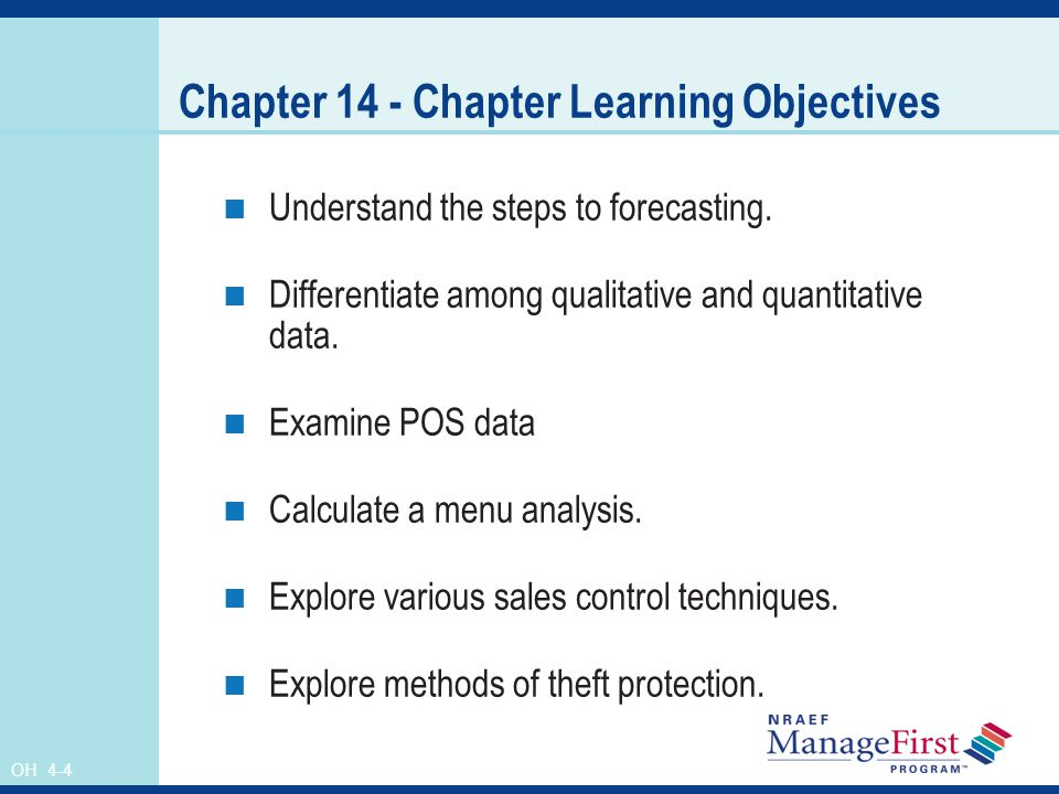 Chapter 14 - Chapter Learning Objectives