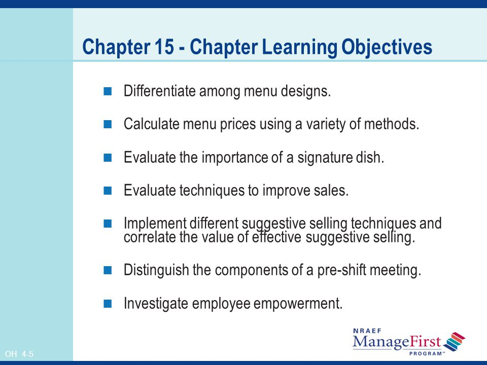 Chapter 15 - Chapter Learning Objectives