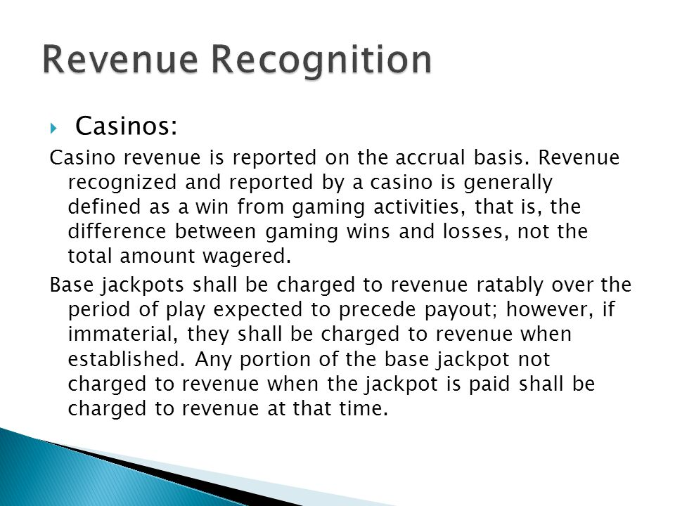Revenue Recognition Casinos: