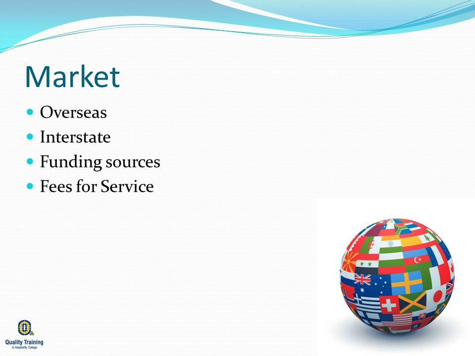 Market Overseas Interstate Funding sources Fees for Service