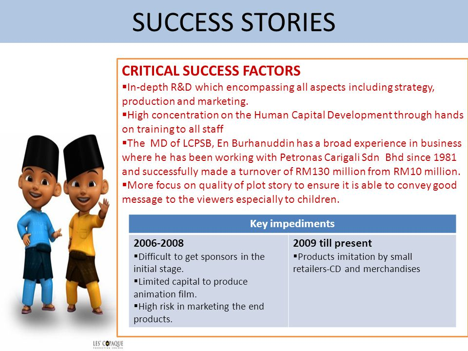 SUCCESS STORIES CRITICAL SUCCESS FACTORS