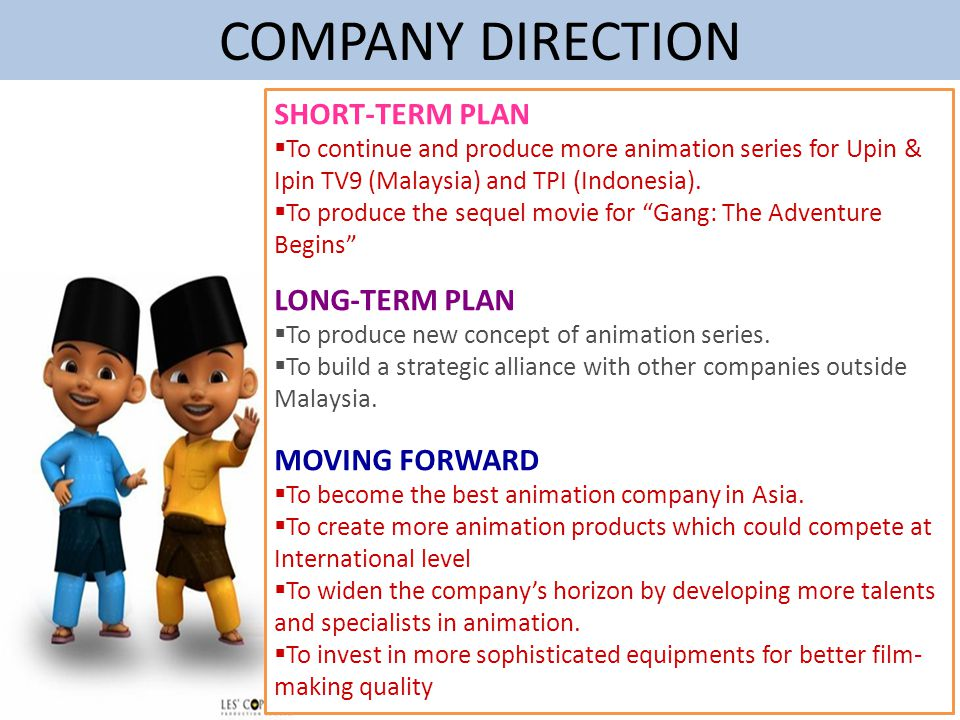 COMPANY DIRECTION SHORT-TERM PLAN LONG-TERM PLAN MOVING FORWARD