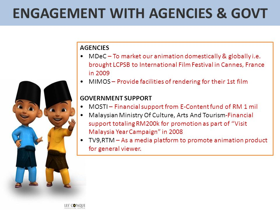 ENGAGEMENT WITH AGENCIES & GOVT