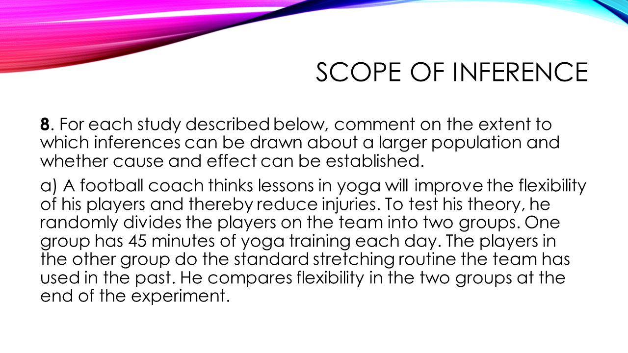 Scope of inference
