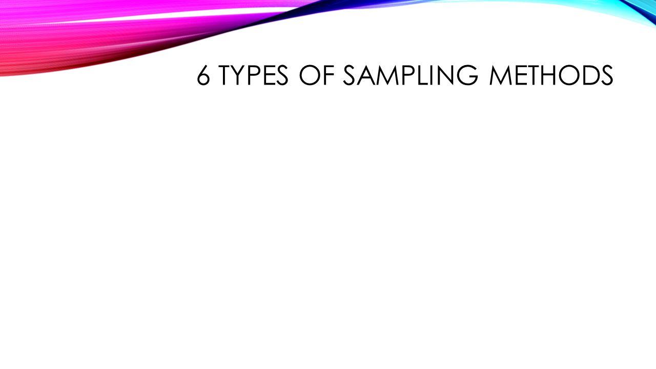 6 types of sampling methods