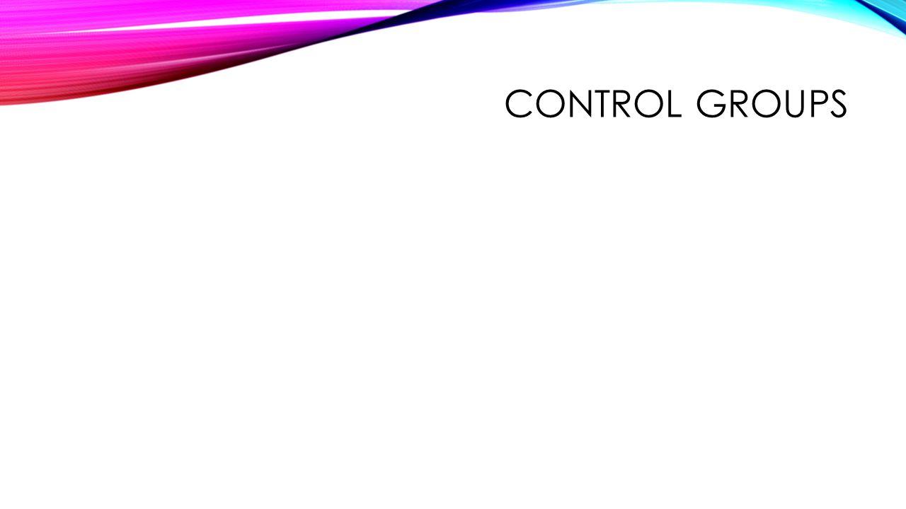 Control groups