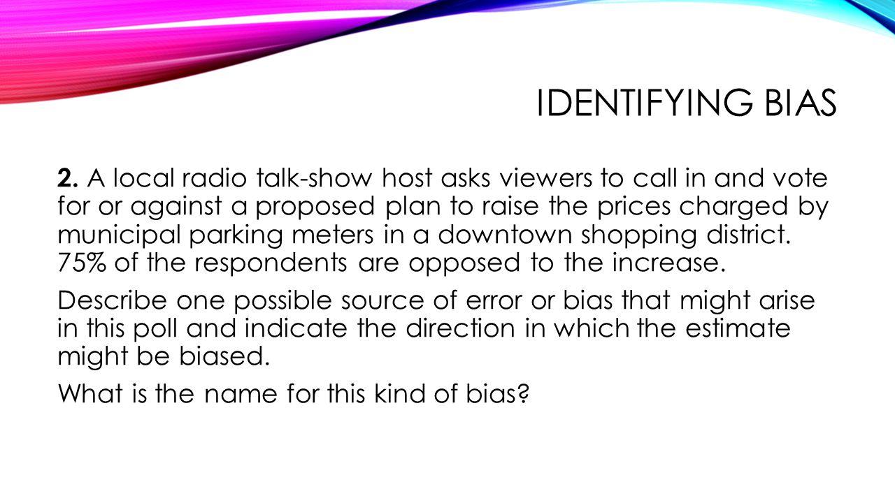 Identifying bias