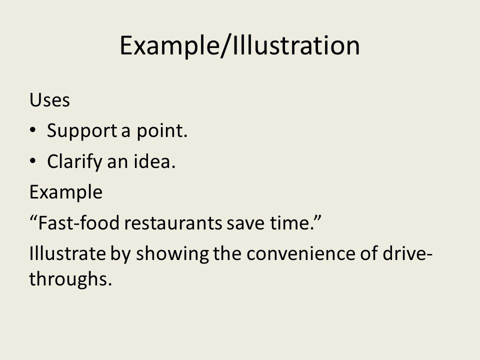 Example/Illustration